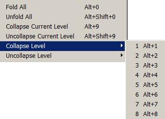блок команд сворачивания кода