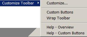 меню плагина Customize Toolbar
