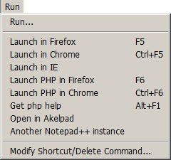 пример модифицированного меню Запуск (Run)